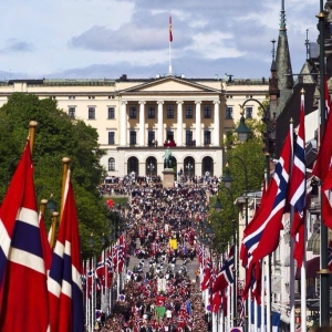 Karl Johans Gate on May 17th